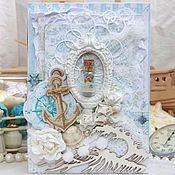 """Открытки ручной работы. Ярмарка Мастеров - ручная работа Открытка """"Море и шебби"""". Handmade."""