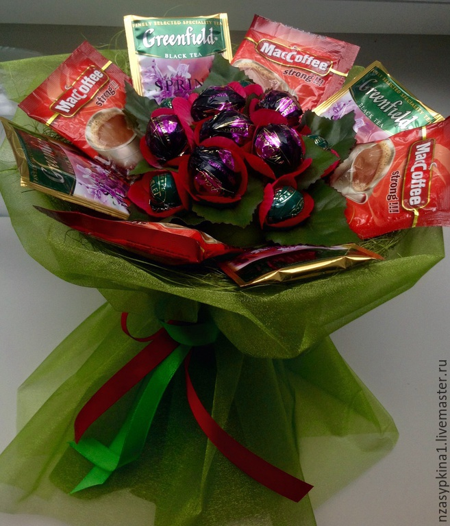 """Букет из конфет """"С Днем Учителя!"""" любимому учителю, Букеты, Москва, Фото №1"""