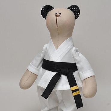 Куклы и игрушки ручной работы. Ярмарка Мастеров - ручная работа Мишка-каратист. Handmade.