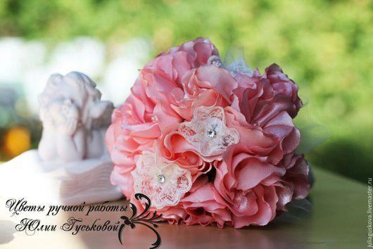 Свадебные цветы ручной работы. Ярмарка Мастеров - ручная работа. Купить Букет невесты. Handmade. Бледно-розовый, букет для фотосессии