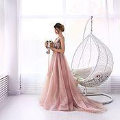 Свадебный салон ручной работы. Ярмарка Мастеров - ручная работа Свадебное платье с расшитым лифом. Handmade.