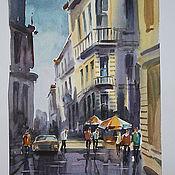 Картины и панно ручной работы. Ярмарка Мастеров - ручная работа Улицы города. Handmade.