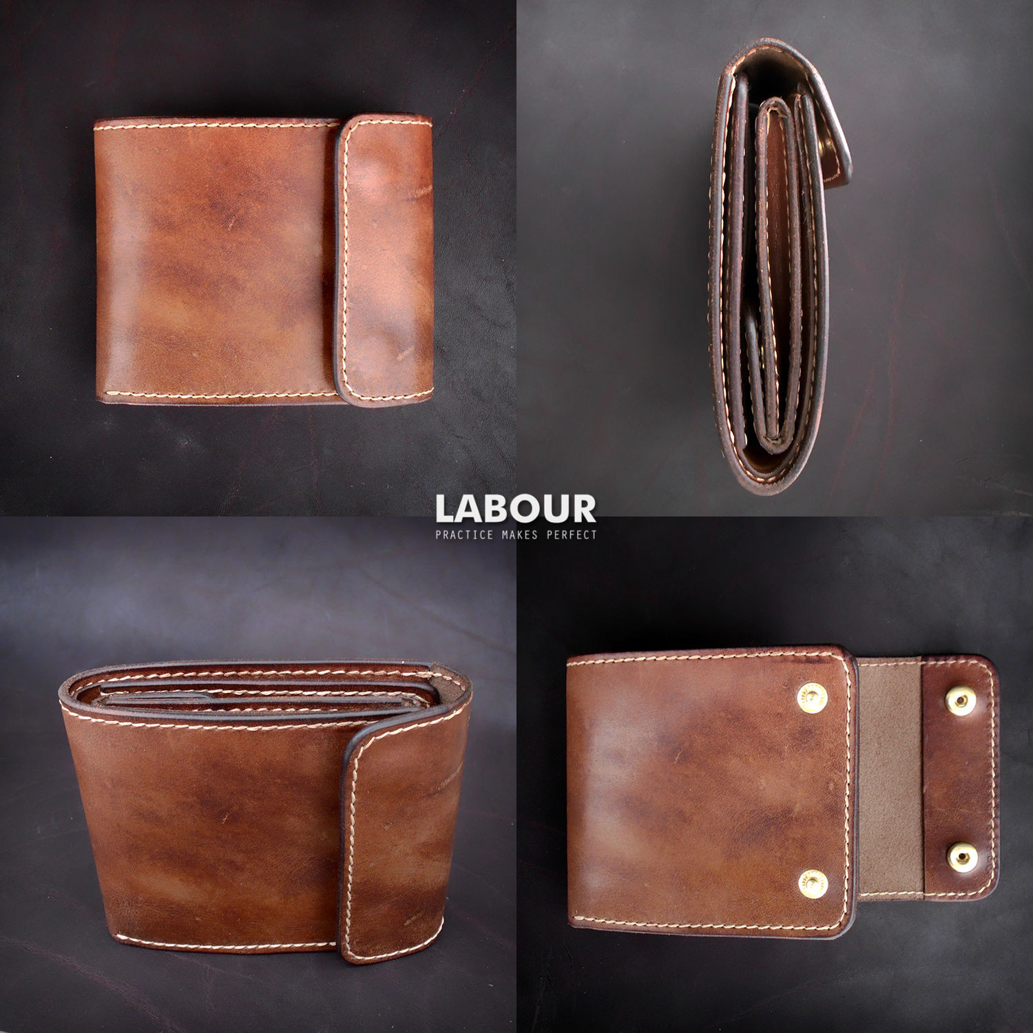 Wallets & Business Card Holders handmade. Livemaster - handmade. Buy Purse leather Labour 57.Brown, purse
