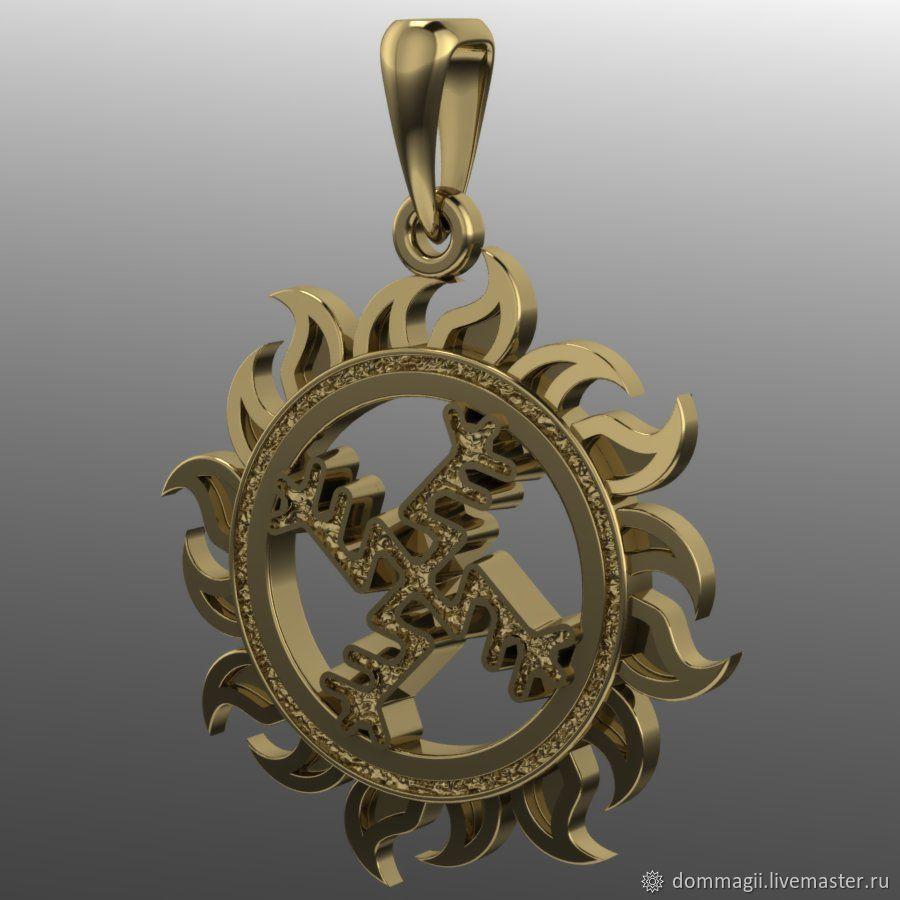 Monetary swastika gold, Amulet, Moscow,  Фото №1