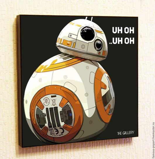 Фантазийные сюжеты ручной работы. Ярмарка Мастеров - ручная работа. Купить Картина Звездные войны BB-8. Handmade.