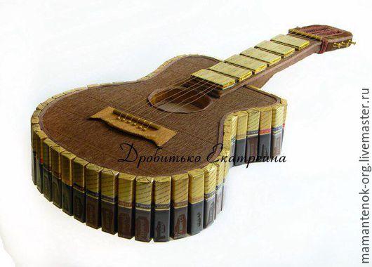 Подарки для мужчин, ручной работы. Ярмарка Мастеров - ручная работа. Купить Гитара из конфет. Handmade. Гитара из конфет, подарок другу