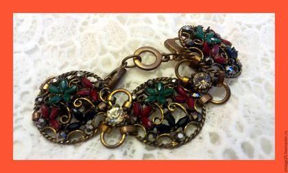 Винтажные украшения. Ярмарка Мастеров - ручная работа. Купить Винтажный браслет 60 е годы бронза. Handmade. Комбинированный