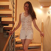 Одежда handmade. Livemaster - original item cotton Romper summer. Handmade.