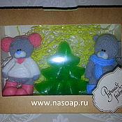 Косметика ручной работы. Ярмарка Мастеров - ручная работа Набор мыла мишки Тедди +елочка. Handmade.