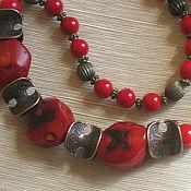 Necklace handmade. Livemaster - original item Coral beads
