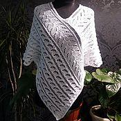 Одежда ручной работы. Ярмарка Мастеров - ручная работа Белая ажурная туника в стиле бохо. Handmade.