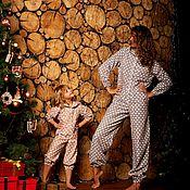 Одежда handmade. Livemaster - original item Set of two flannel overalls