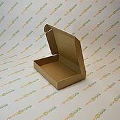 Фурнитура для кукол и игрушек ручной работы. Ярмарка Мастеров - ручная работа Самосборная коробка 34х21х6см бурый. Handmade.