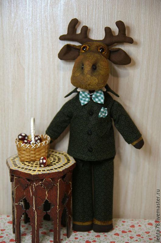 Игрушки животные, ручной работы. Ярмарка Мастеров - ручная работа. Купить Лось. Handmade. Разноцветный, кукла ручной работы, синтипон