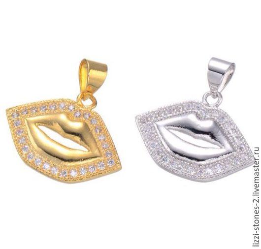 Подвеска Губки серебро и золото (Milano) Евгения (Lizzi-stones-2)