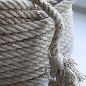Материалы для творчества ручной работы. Ярмарка Мастеров - ручная работа Джутовый шнур, плетеный, 12 мм. Handmade.