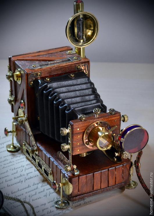Персональные подарки ручной работы. Ярмарка Мастеров - ручная работа. Купить Винтажная фотокамера : USB хаб с Nixie вакумной лампой, диапроектор. Handmade.
