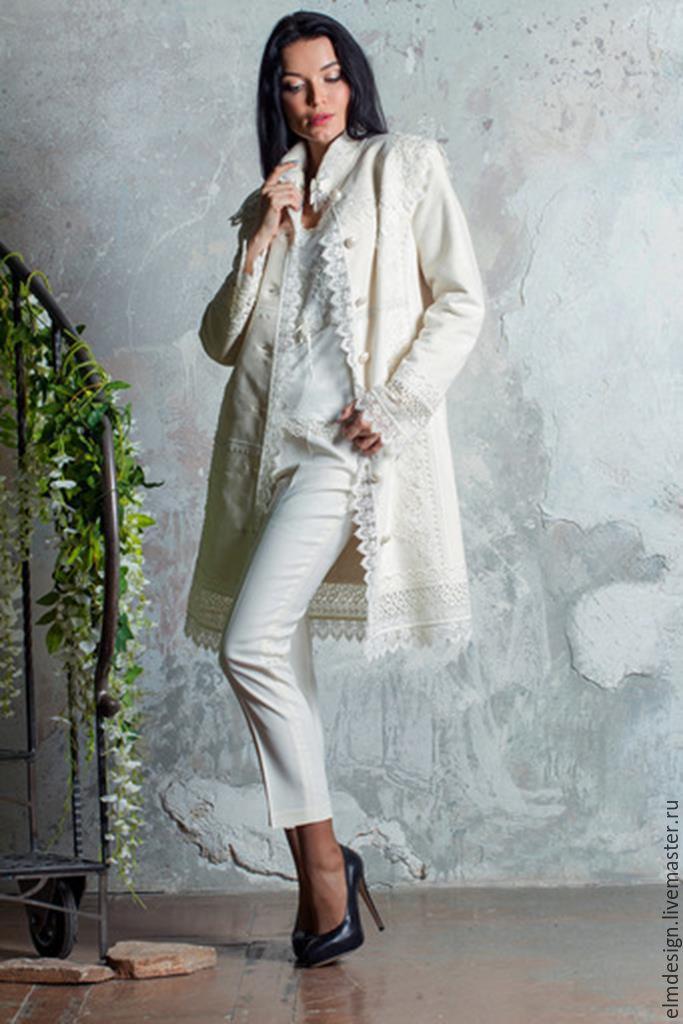 Пальто белое!Пальто дизайнерское!, Пальто, Москва,  Фото №1