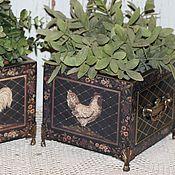 Цветы и флористика ручной работы. Ярмарка Мастеров - ручная работа Кашпо для цветов. Handmade.