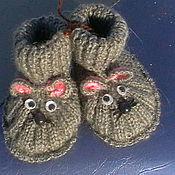 """Работы для детей, ручной работы. Ярмарка Мастеров - ручная работа Пинетки """"Мышки"""". Handmade."""