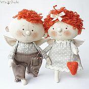 Мягкие игрушки ручной работы. Ярмарка Мастеров - ручная работа Два Рыжих Ангела Куклы текстильные. Handmade.