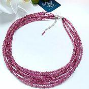 Украшения handmade. Livemaster - original item Necklace made of rubellite tourmaline