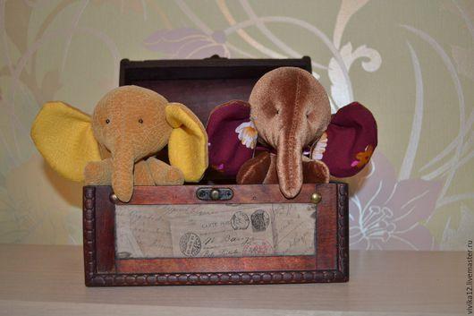 Игрушки животные, ручной работы. Ярмарка Мастеров - ручная работа. Купить Слоник. Handmade. Бежевый, слон игрушка, хлопок