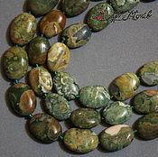 Материалы для творчества handmade. Livemaster - original item Jasper, oval beads, 18h13h8 mm or mm 15h12h6. Handmade.