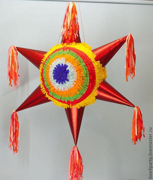 Праздничная атрибутика ручной работы. Ярмарка Мастеров - ручная работа. Купить Пиньята «Звезда ». Handmade. Пиньята, звезда, бумага