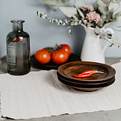 Посуда handmade. Livemaster - original item Wooden plates Set of 3 PCs (19#41. Handmade.