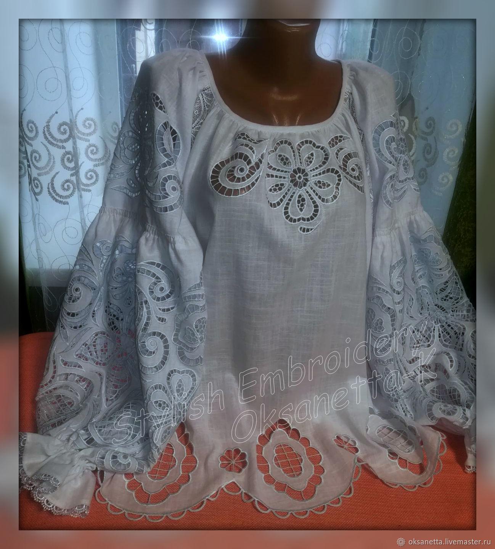 Блуза с вышивкой ришелье, Блузки, Запорожье,  Фото №1