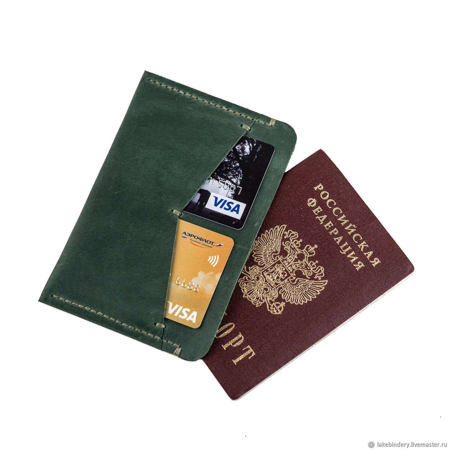 Leather passport cover driver's documents and maps, Cover, Moscow,  Фото №1