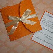 Открытки ручной работы. Ярмарка Мастеров - ручная работа свадебные приглашения. Handmade.