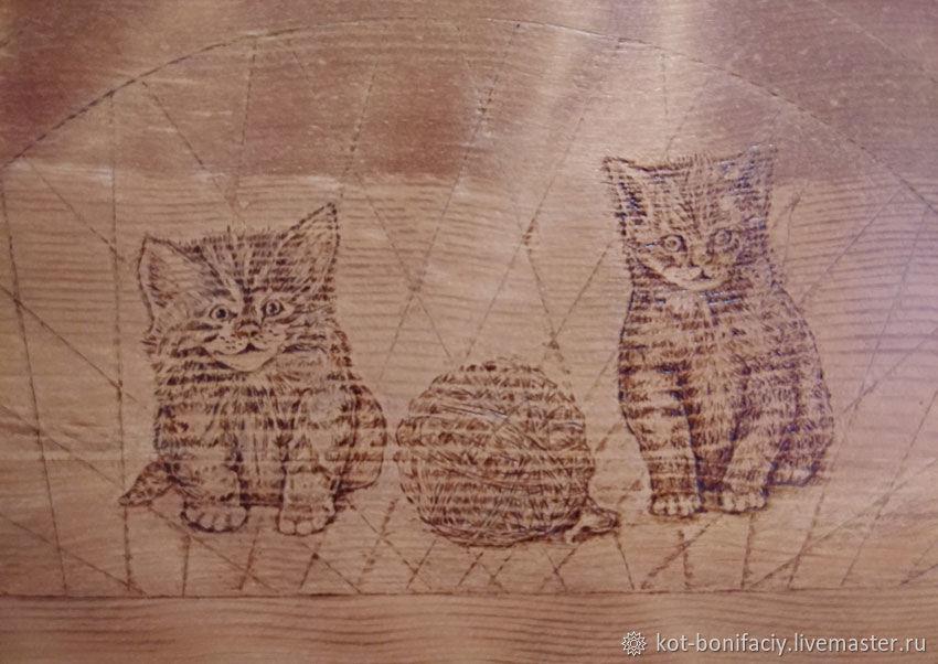 "Подставка для мисок ""Забавные котята"", Подставки для мисок, Бийск,  Фото №1"