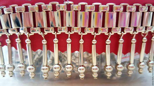 Шитье ручной работы. Ярмарка Мастеров - ручная работа. Купить Металлическая бахрома «Versace». Handmade. Розовое золото, металлическая цепочка