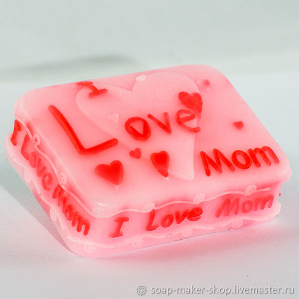 Silicone soap mold ' I love mom 2 2D», Form, Shahty,  Фото №1
