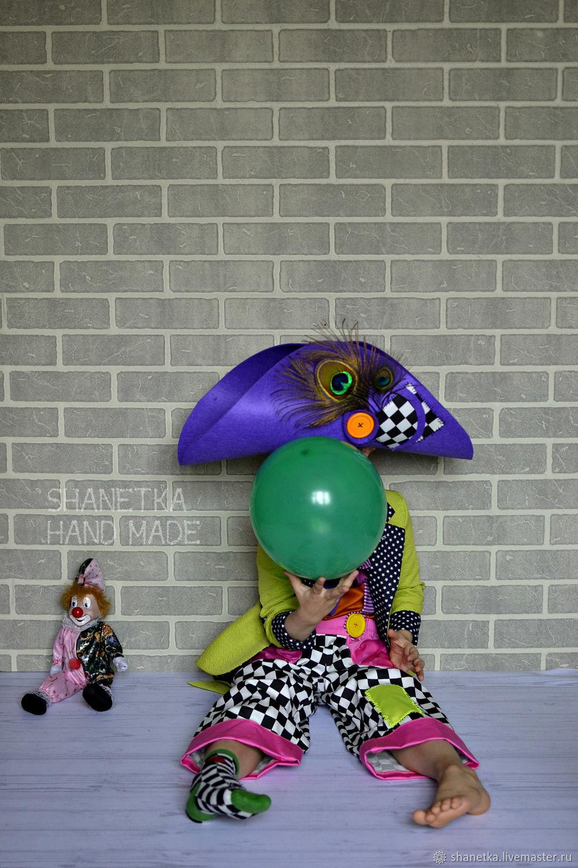 Детские карнавальные костюмы ручной работы. Ярмарка Мастеров - ручная работа. Купить Карнавальный костюм Клоуна детский. Handmade. Клоун