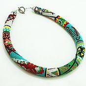 Украшения handmade. Livemaster - original item Harness beaded patchwork Ethnic. Handmade.