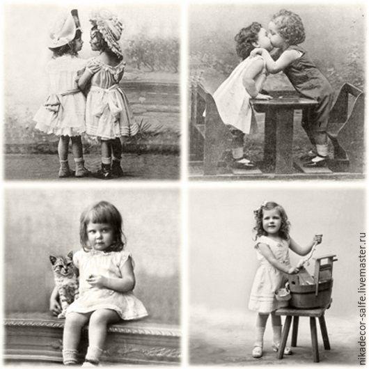 Декупаж и роспись ручной работы. Ярмарка Мастеров - ручная работа. Купить Счастливые дети (80074) 33х33 салфетка для декупажа. Handmade.