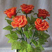 Цветы и флористика ручной работы. Ярмарка Мастеров - ручная работа Оранжевые розы. Handmade.