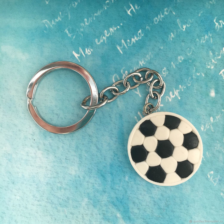 Брелок для ключей или на сумку из полимерной глины «Футбол 2018»