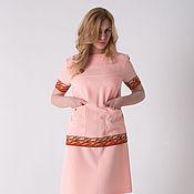 Одежда ручной работы. Ярмарка Мастеров - ручная работа Платье персиковое П-56. Handmade.