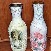 Подарки к праздникам ручной работы. Ярмарка Мастеров - ручная работа В подарок дамам декорированная бутылка любимого напитка. Handmade.