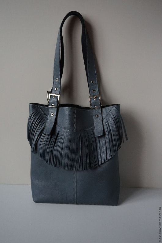 Женские сумки ручной работы. Ярмарка Мастеров - ручная работа. Купить Сумка шоппер серого цвета. Handmade. Серый