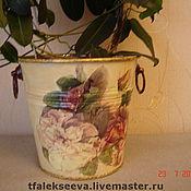 Цветы и флористика ручной работы. Ярмарка Мастеров - ручная работа Кашпо для любимых цветов( большое),ведерко для льда. Handmade.