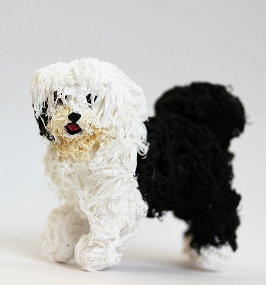 """Игрушки животные, ручной работы. Ярмарка Мастеров - ручная работа. Купить фигурка """"Бобтейл"""" (собака, игрушка). Handmade. Собака"""