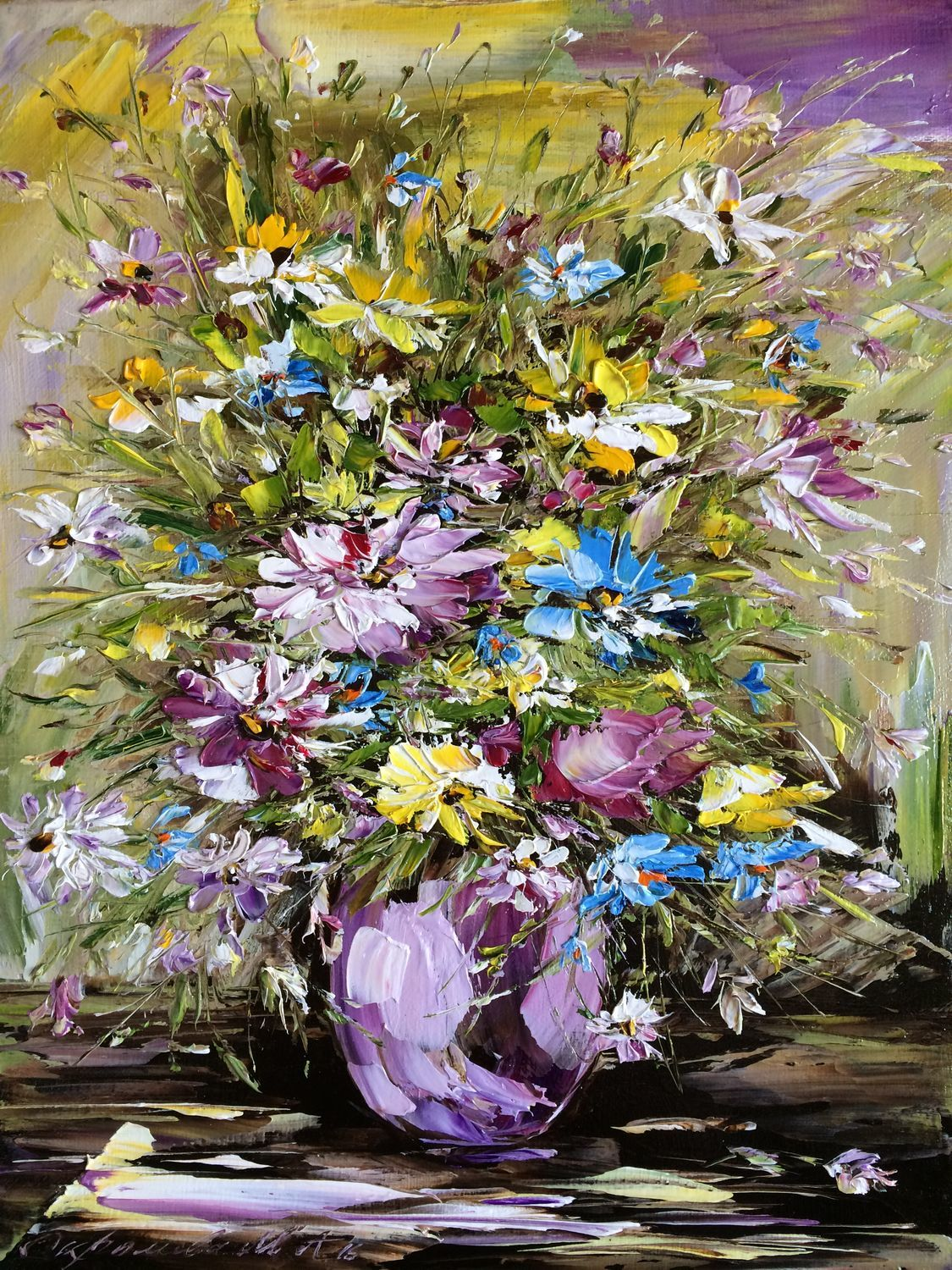 Oil painting Morning bouquet, Pictures, Moscow,  Фото №1