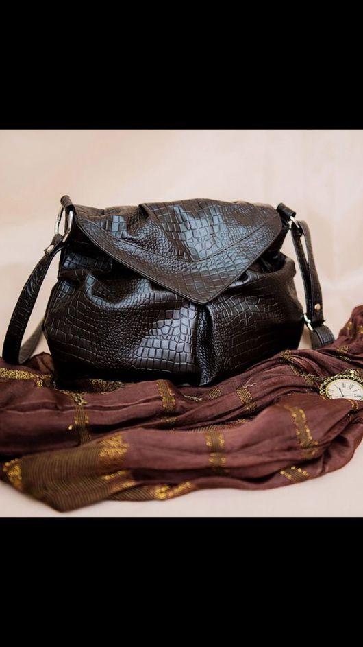 Женские сумки ручной работы. Ярмарка Мастеров - ручная работа. Купить Сумочка на каждый деньМ45. Handmade. Натуральная кожа, тесненая