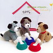 """Куклы и игрушки ручной работы. Ярмарка Мастеров - ручная работа """"Собачки"""" вязаные игрушки. Handmade."""