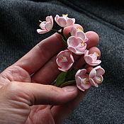 """Украшения ручной работы. Ярмарка Мастеров - ручная работа Брошь """"Цветы вишни"""". Handmade."""